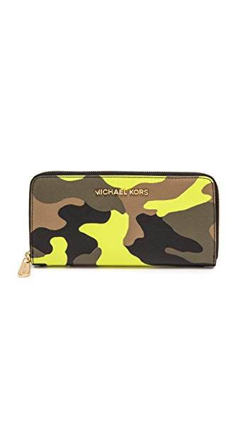MICHAEL Michael Kors Printed Zip Around Continental Wallet