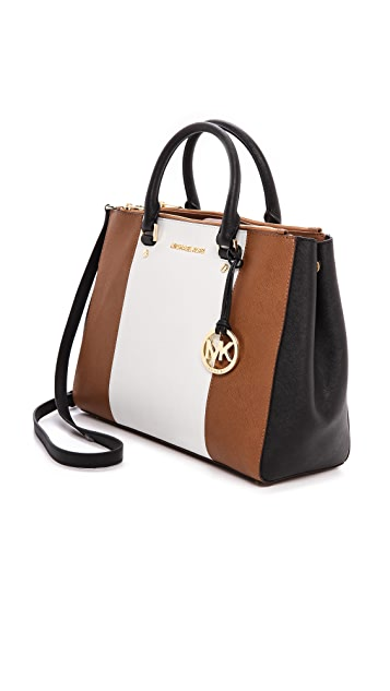 MICHAEL Michael Kors Sutton Center Stripe Large Satchel