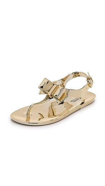 MICHAEL Michael Kors Kayden Metallic Jelly Sandals