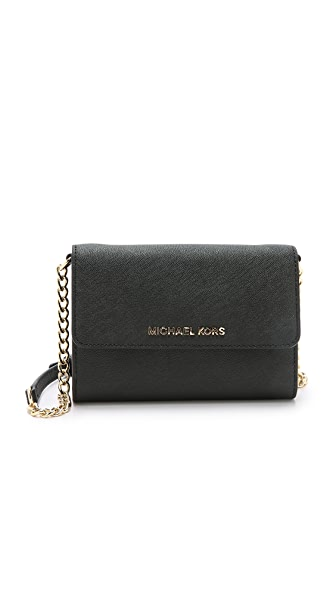 MICHAEL Michael Kors Jet Set Large Phone Cross Body Bag - Black