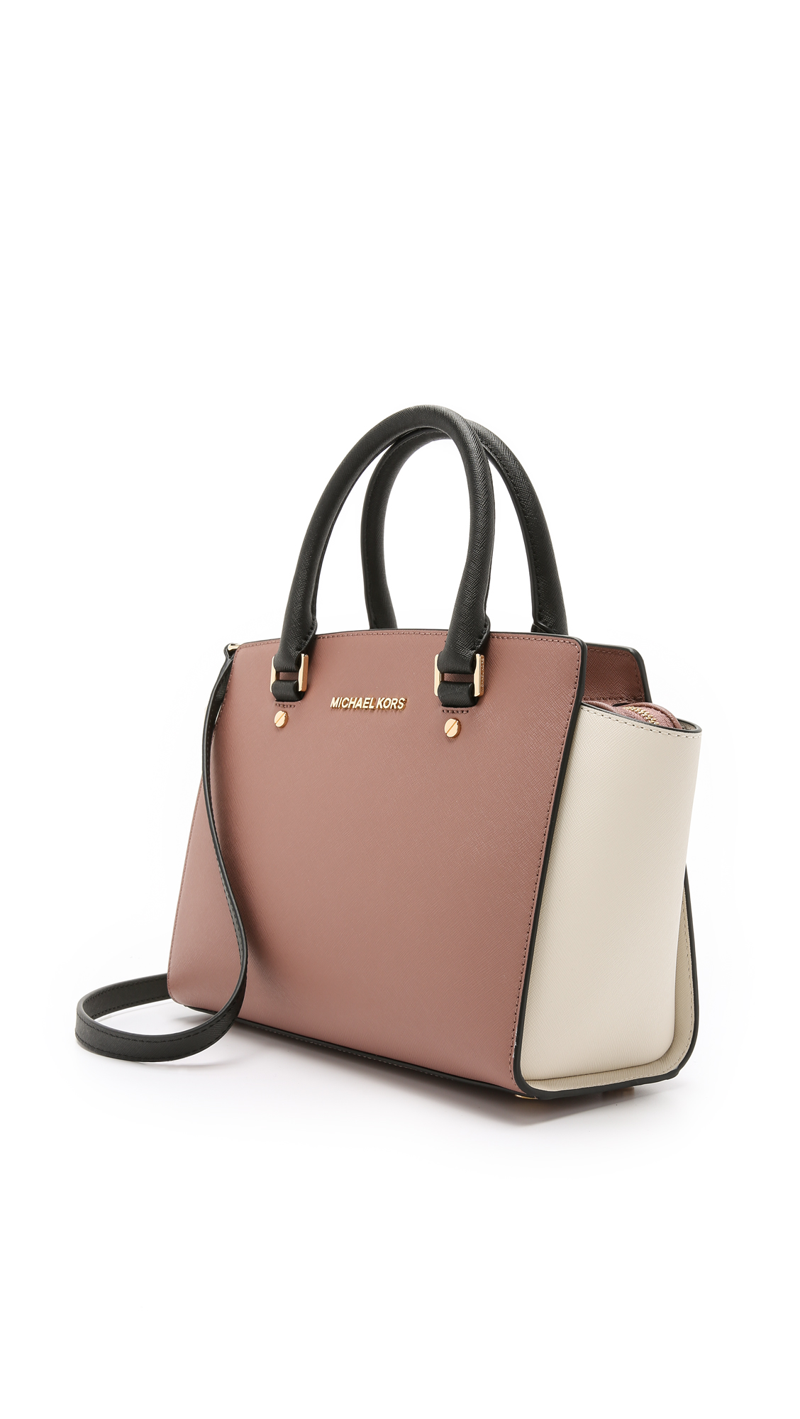 e8cedb5e7d91 clearance michael michael kors selma medium top zip satchel shopbop save up  to 25 use code