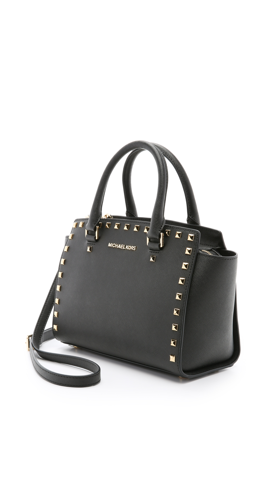 32bdc3e563e1 ... where can i buy michael michael kors selma stud medium top zip satchel  shopbop ea2c5 cae5b