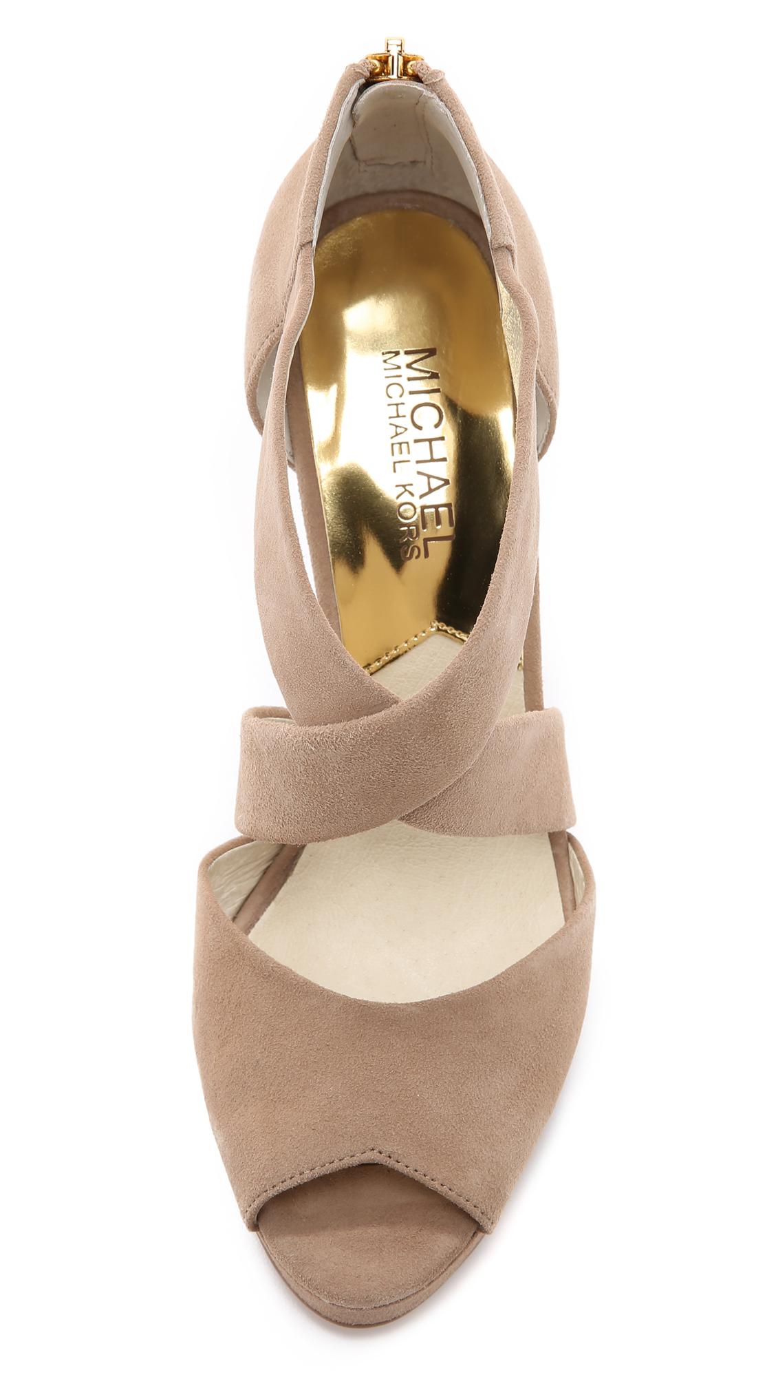 250defec580 MICHAEL Michael Kors Ariel Suede Platform Sandals