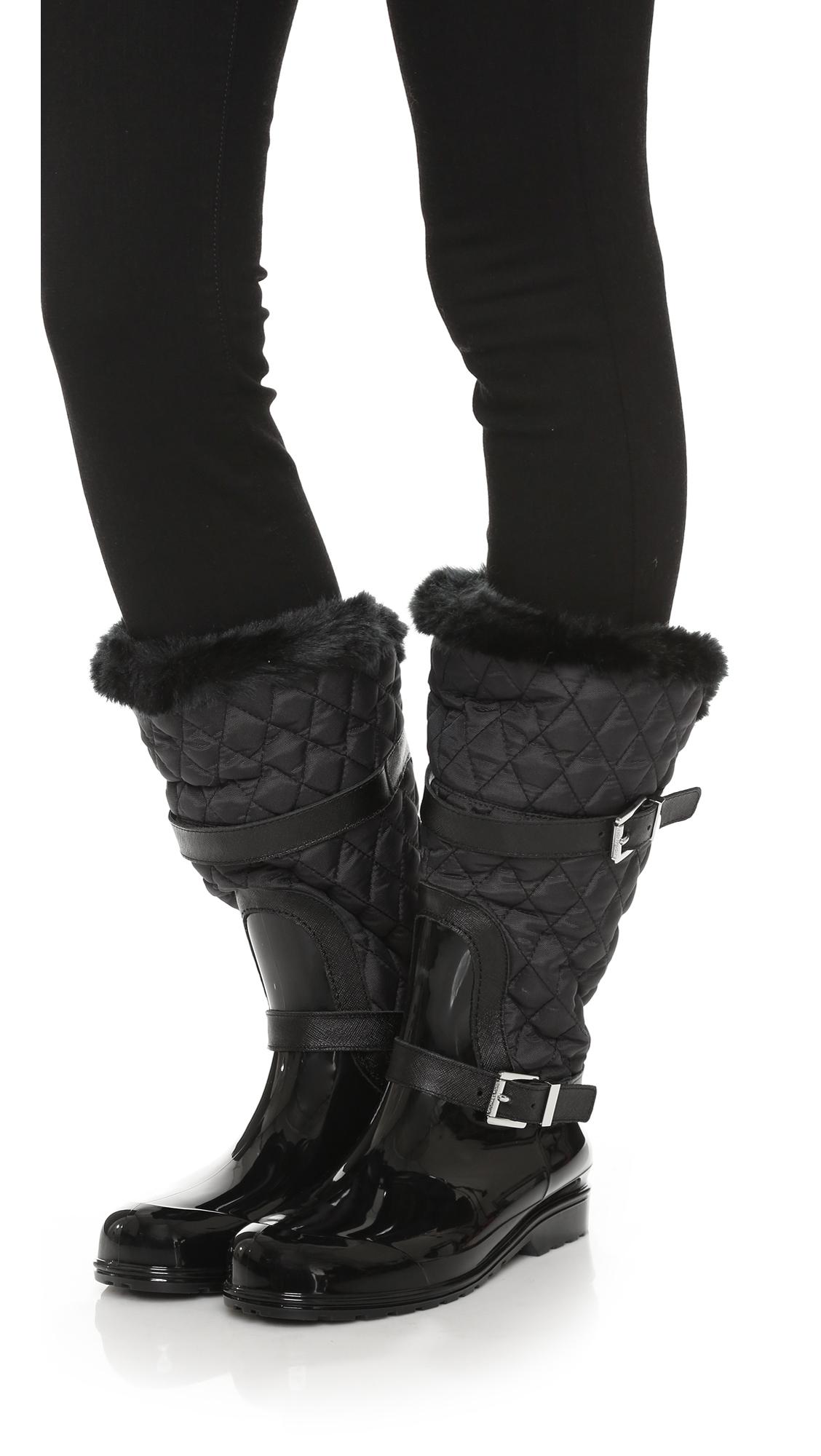 MICHAEL Michael Kors Fulton Quilted Mid Rain Boots | SHOPBOP : michael kors fulton quilt - Adamdwight.com