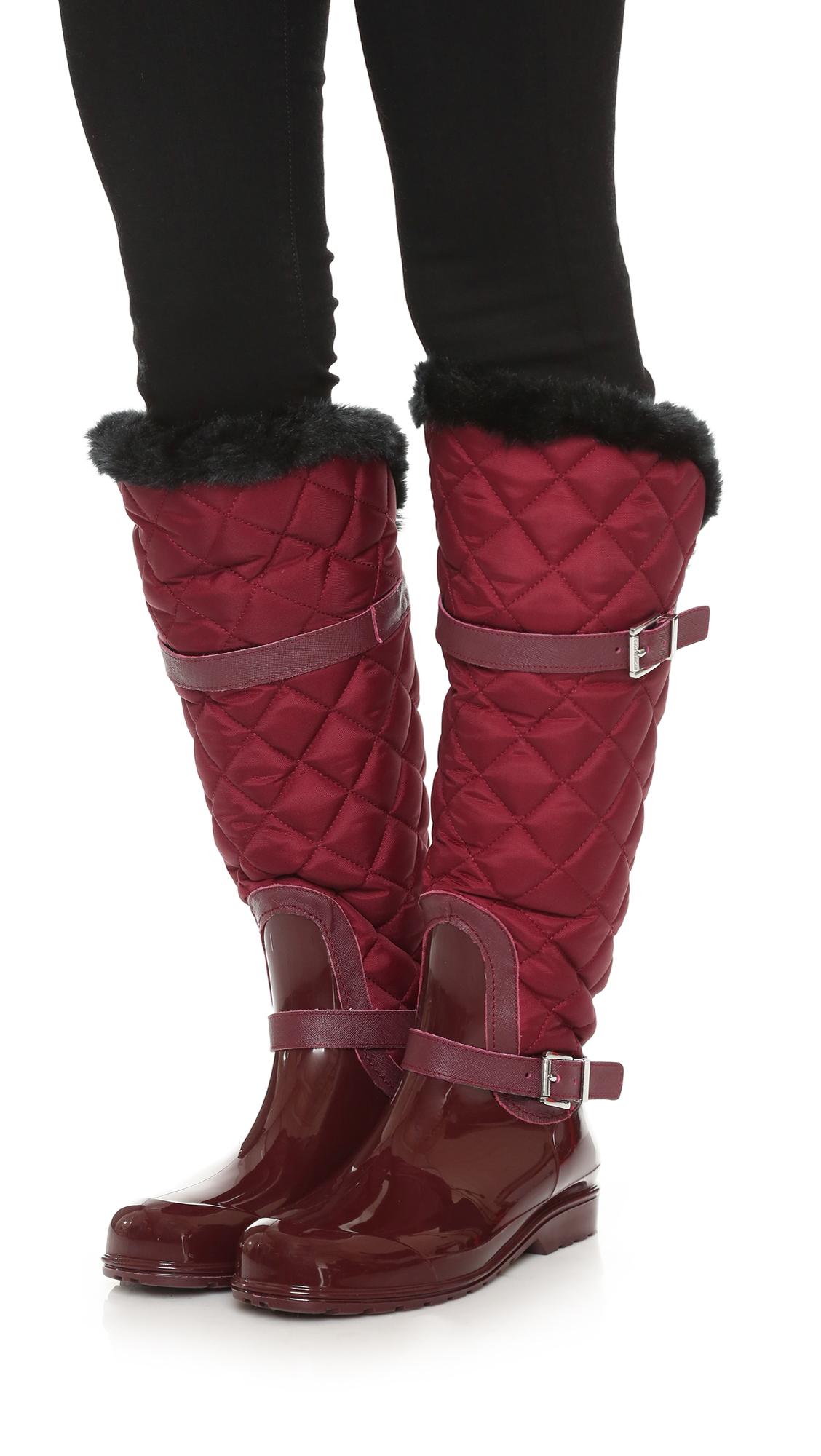 fcbdcd313 MICHAEL Michael Kors Fulton Quilted Rain Boots | SHOPBOP