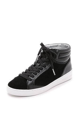 Kupi MICHAEL Michael Kors online i prodaja Michael Michael Kors Paige High Top Sneakers Black haljinu online