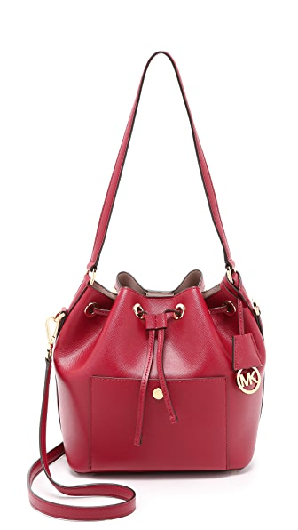 michael michael kors greenwich medium bucket bag shopbop. Black Bedroom Furniture Sets. Home Design Ideas