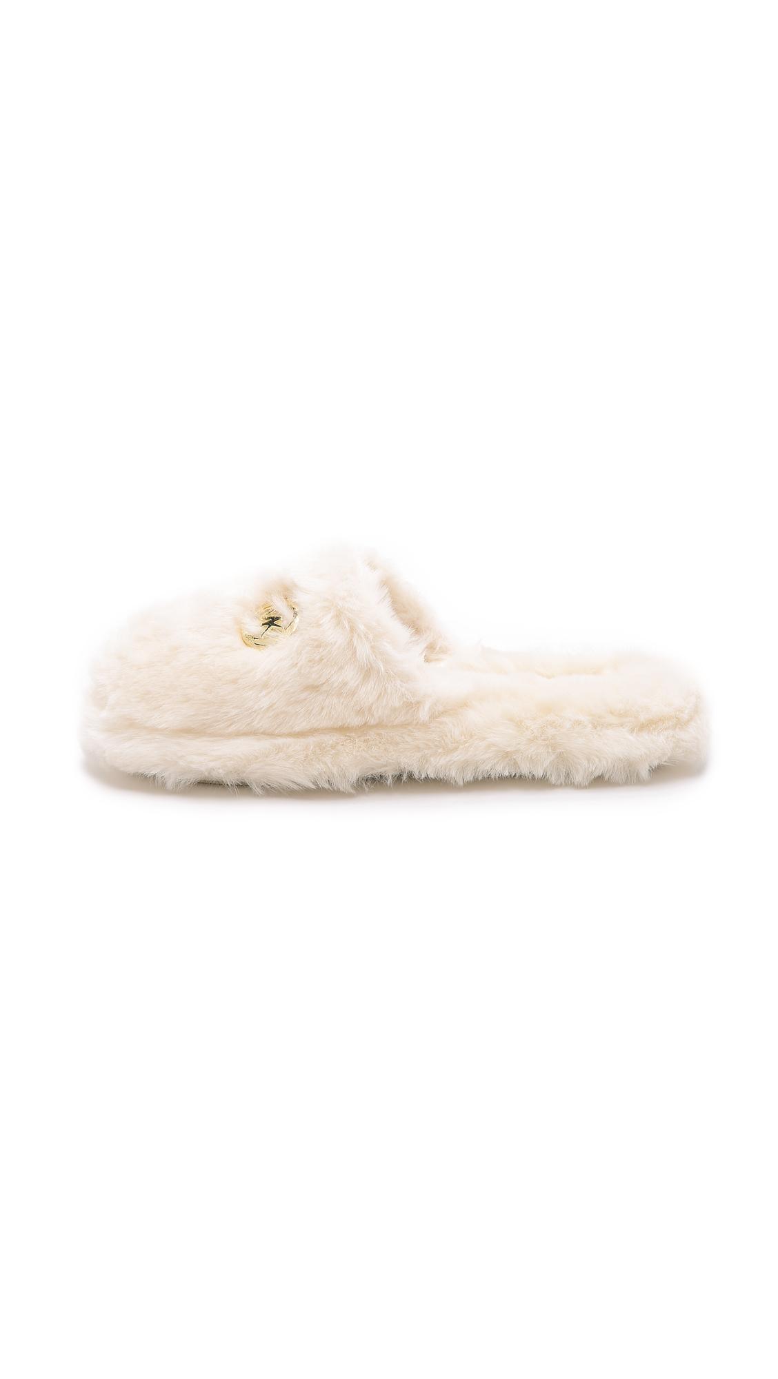 f1dcac3c288e MICHAEL Michael Kors Jet Set Faux Fur Slippers
