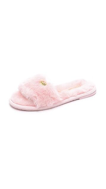 MICHAEL Michael Kors Jet Set Faux Fur Slide Slippers