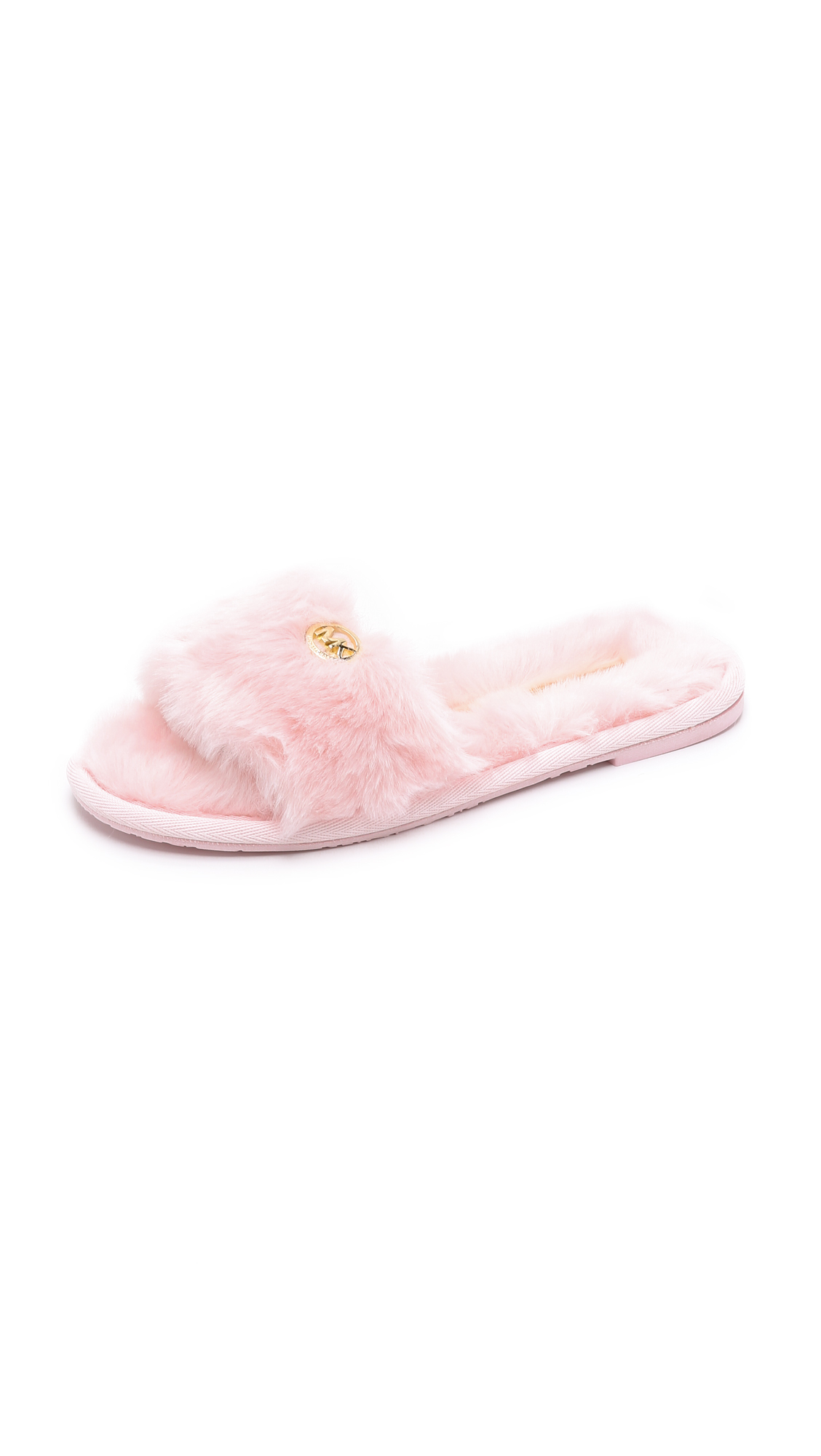 7418d4e015c3f MICHAEL Michael Kors Jet Set Faux Fur Slide Slippers