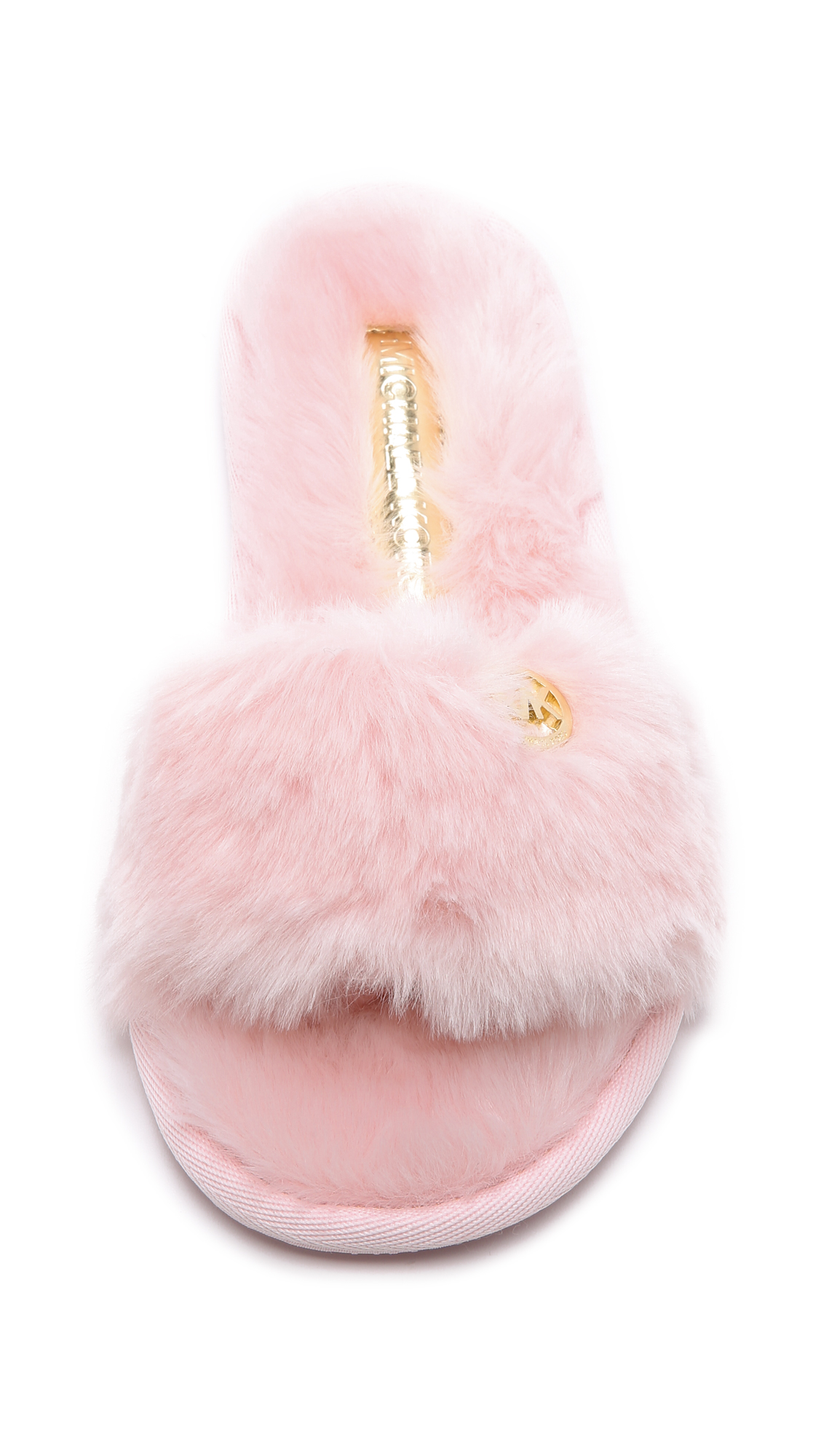 0aa69f921e35 MICHAEL Michael Kors Jet Set Faux Fur Slide Slippers