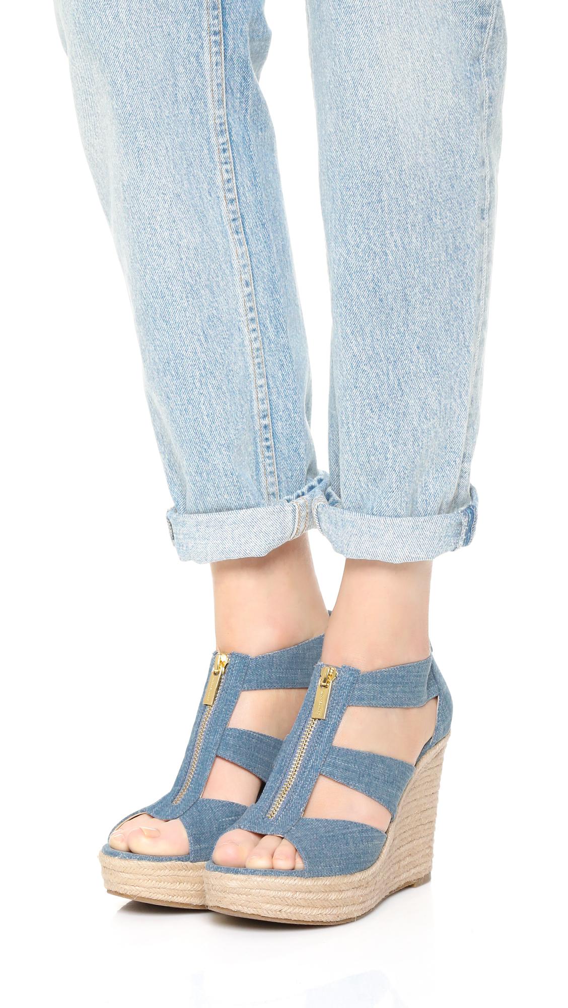 7cfd4fb33d77 MICHAEL Michael Kors Damita Wedge Sandals