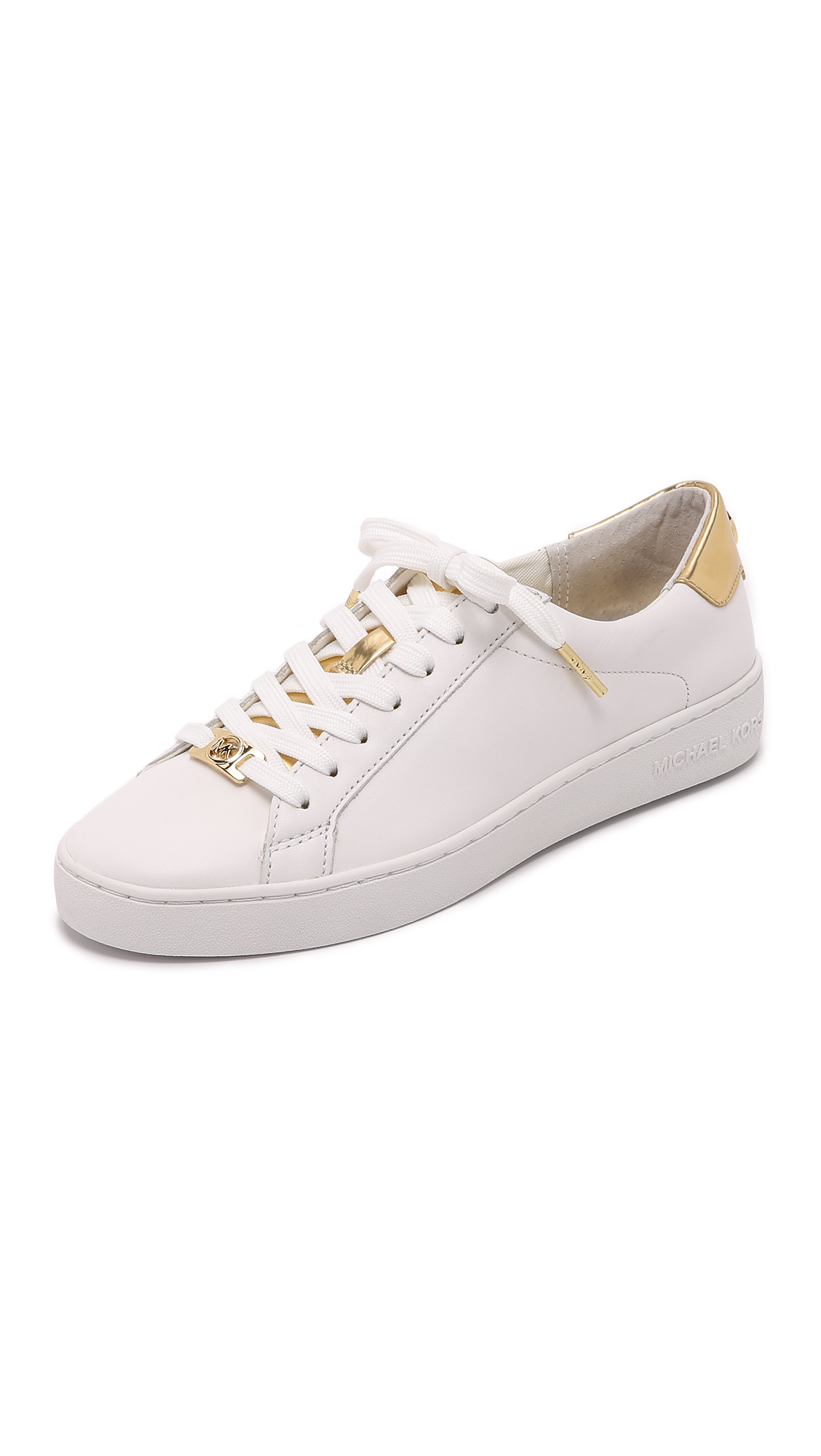 MICHAEL Michael Kors Irving Sneakers - Optic/Pale Gold