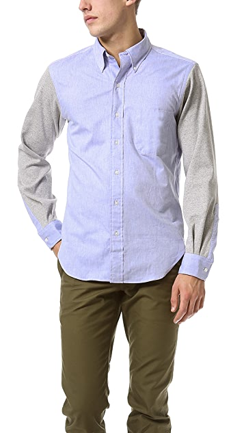 Mark McNairy New Amsterdam Oxford Sport Shirt with Contrast Sleeves