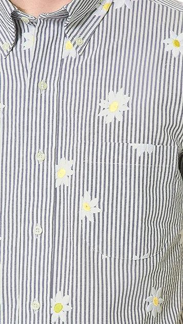 Mark McNairy New Amsterdam Floral Seersucker Shirt