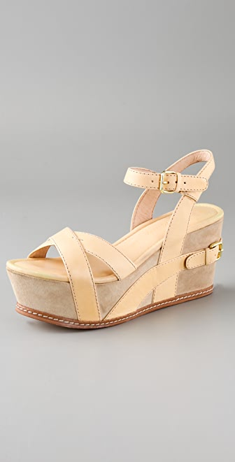 Modern Vintage Shoes Arnie X Band Platform Sandals