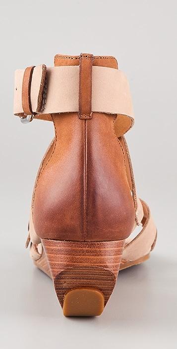 Modern Vintage Shoes Lorisa Wedge Sandals