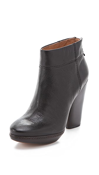 Modern Vintage Shoes Allison Chunky Heel Booties