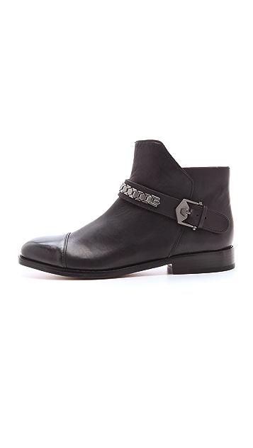 Modern Vintage Shoes Virginia Flat Cap Toe Booties