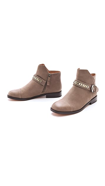 Modern Vintage Shoes Virginia Flat Cap Toe Booties