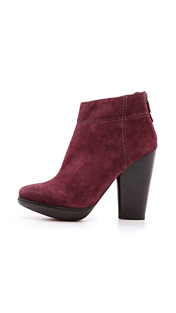 Modern Vintage Shoes Allyson Suede Booties