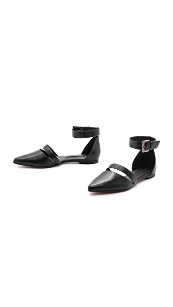 Modern Vintage Shoes Shelly Ankle Strap Flats