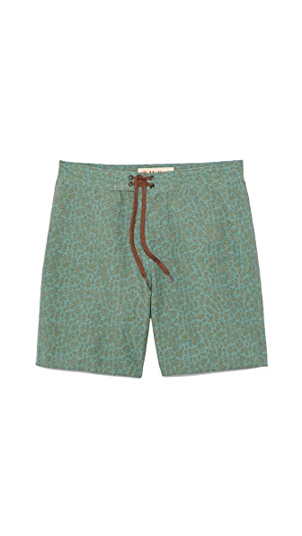 Mollusk Green Leaf Board Shorts