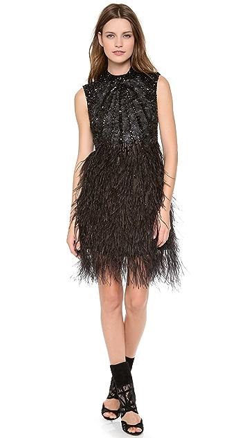 Monique Lhuillier Illusion Back Cocktail Dress
