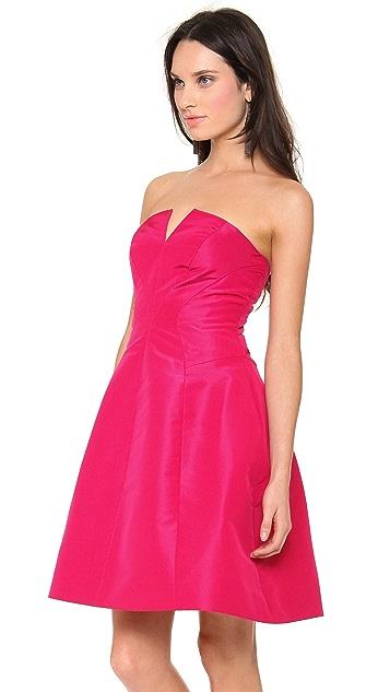 Monique Lhuillier Strapless A Line Dress