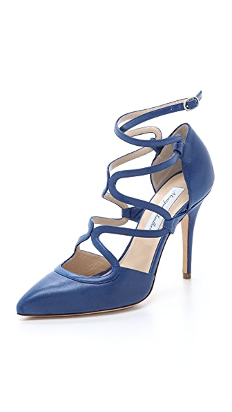 Monique Lhuillier Avery Crossover Strap Pumps