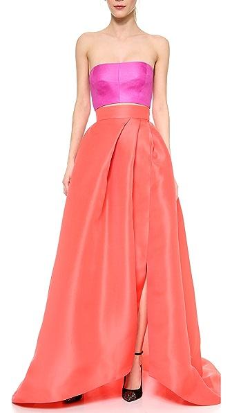 Monique Lhuillier Draped Ball Skirt
