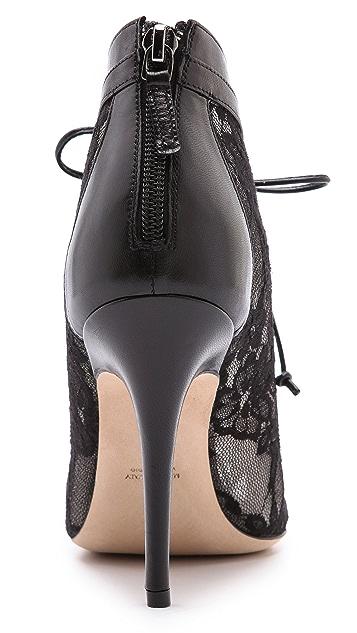 Monique Lhuillier Lace Up Booties