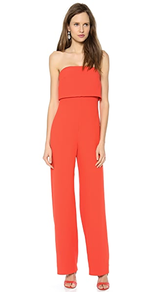 Monique Lhuillier Strapless Jumpsuit