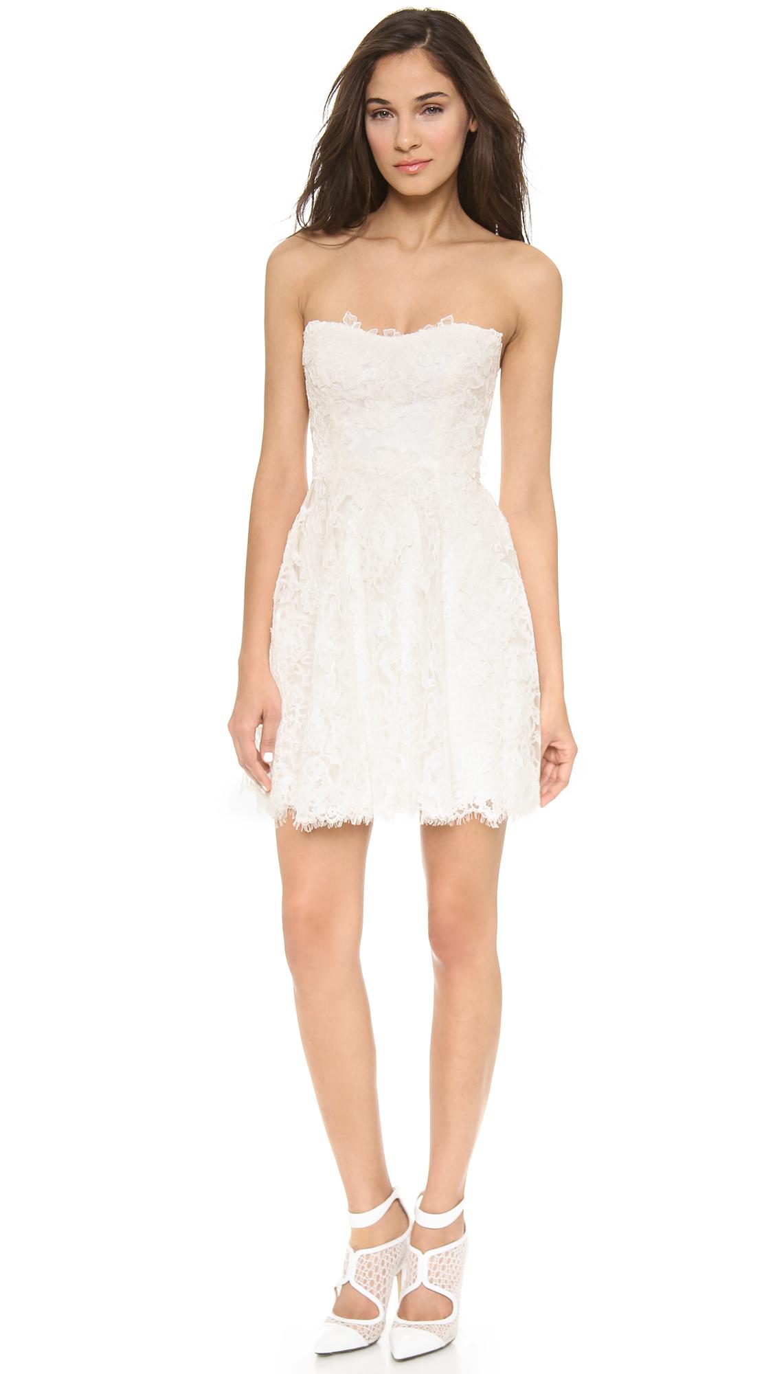Monique Lhuillier Flirt Lace Mini Dress Shopbop