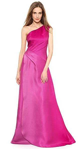 Monique Lhuillier One Shoulder Gown