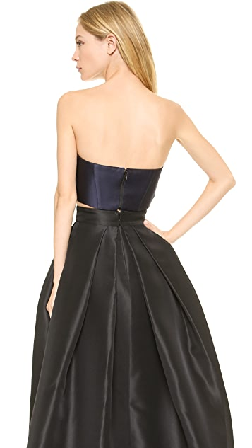 Monique Lhuillier Strapless Bra Top