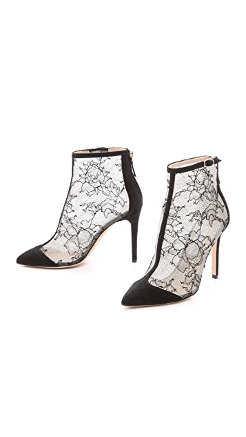 Monique Lhuillier Nicole Lace Booties
