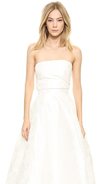 Monique Lhuillier Emmy Bandeau Top - Ivory