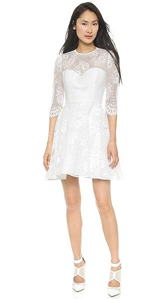 Shop Monique Lhuillier online and buy Monique Lhuillier Mignon A Line Dress White-White dresses online