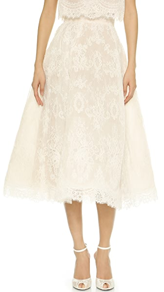Monique Lhuillier Charlotte Tea Length Skirt