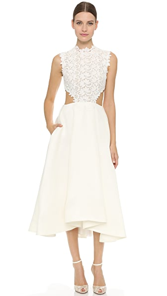Monique Lhuillier Tea Length Dress