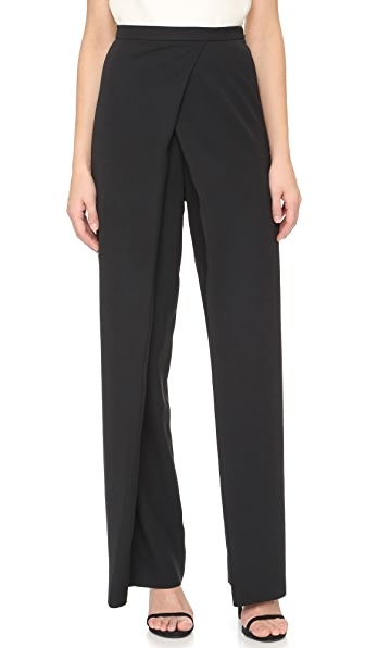 Monique Lhuillier Draped Front Pants