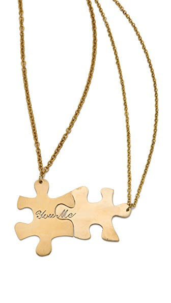 Monserat De Lucca Friendship Puzzle Necklace Set