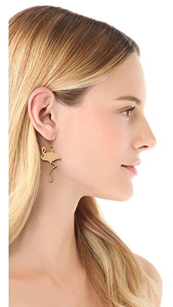 Monserat De Lucca Flamingo Earrings