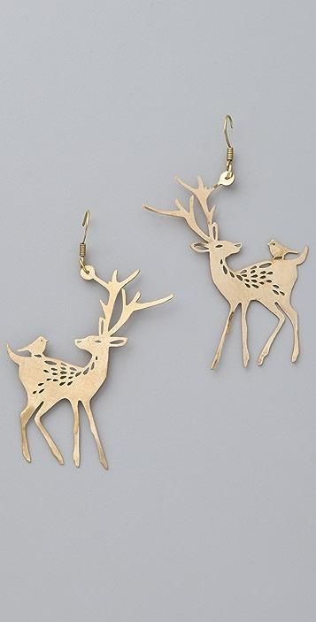 Monserat De Lucca Deer Earrings