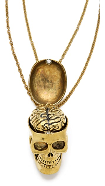 Monserat De Lucca Skull & Brain Friendship Necklace Set
