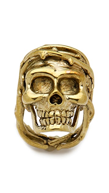 Monserat De Lucca Skull Ring