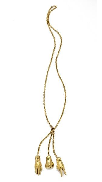 Monserat De Lucca Rock Paper Scissors Necklace
