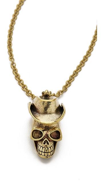 Monserat De Lucca Cowboy Skull Necklace