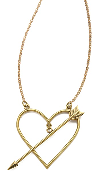 Monserat De Lucca Heart & Arrow Necklace